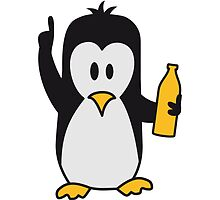 Drunk drinking beer party Penguin by Style-O-Mat