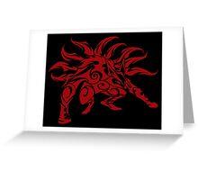 Kurama Tribal Red Greeting Card