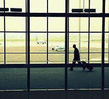 Lone Traveler by Valentino Visentini