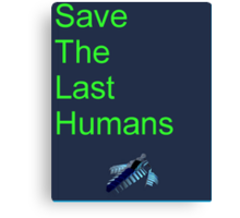 Resogun Save the Last Humans Canvas Print