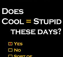 Cool=Stupid-Yes by Lunatic