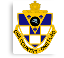 178th Infantry Regiment - One Country - One Flag Canvas Print