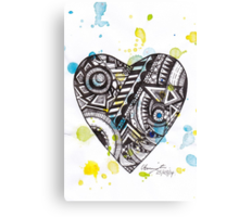 Patterned Heart Canvas Print