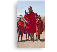 Masai Jumping Dance Canvas Print