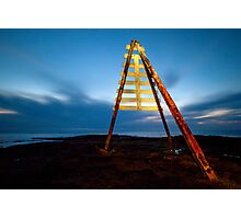Signal post at Ricketts Point Photographic Print