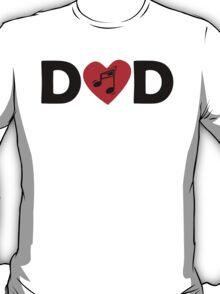 Music Heart Dad T-Shirt