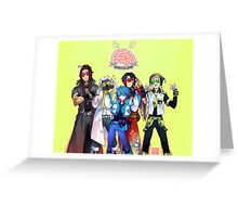 (CLEAN Version) DRAMAtical Murder - Five Guys Greeting Card