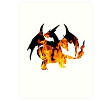 Mega Charizard Y used Blast Burn Art Print