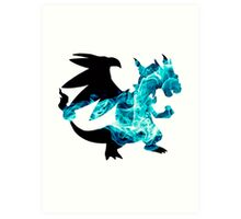 Mega Charizard X used Blast Burn Art Print