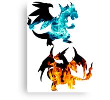 Mega Charizard X and Y used Blast Burn Canvas Print
