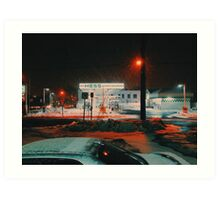 8:26, walking during a blizzard Art Print