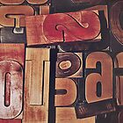 A collection of wood type by Pixmover