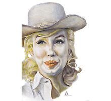 Marilyn Monroe - The Misfits (Onset) Photographic Print