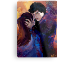Sherlock and Molly Metal Print