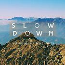 Slow down by Constanza Caiceo