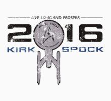 Vote Kirk & Spock 2016 (Vintage) by emsalee