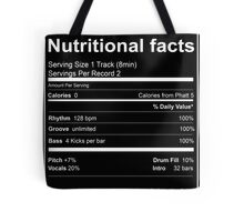 House Music Nutritional Facts Tote Bag