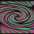 Green and Pink Swirl #1 by Gilda Axelrod