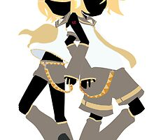 Kagamine Rin and Len Box Art Silhouette by gowatchanime