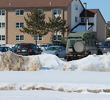 Photo Essay- Military Presence in the Parking Lot by emschneid
