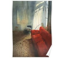 Red sofa Poster