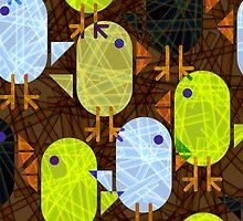 Farmyard chicks & straw pattern by pygmycreative