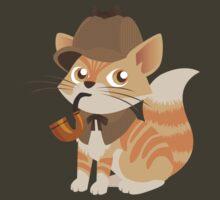 Cute Sherlock Holmes Kitten by Veronica Guzzardi