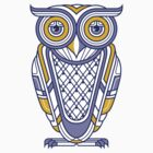 Art Deco Owl by qetza