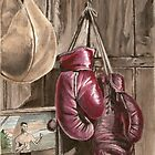 Boxing nostalgia oil painting by RobCrandall
