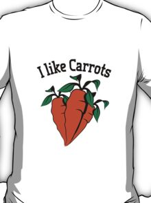 Vegetables I like carrots organic garden T-Shirt