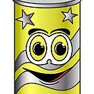 Yellow Soda Can Cartoon by Graphxpro