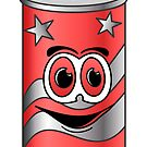 Red Soda Can Cartoon by Graphxpro