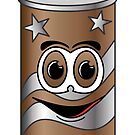 Brown Soda Can Cartoon by Graphxpro