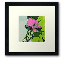 Textured Abstract Poppy Framed Print