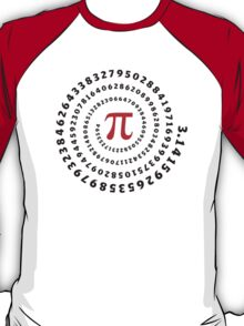Pi π Galaxy Science Mathematics Math Irrational Number Sequence T-Shirt