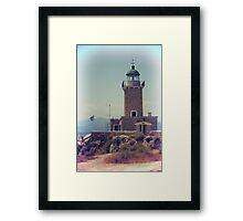 Vintage photo of lighthouse Framed Print