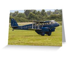 """DH.89a Dragon Rapide 6 G-AGTM """"Sybille"""" Greeting Card"""