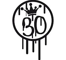 Crown King graffiti Queen Stempel 30 by Style-O-Mat