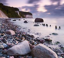 Chalk Cliffs Twilight by Michael Breitung