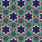 Kaleidoscopic Retro Stars by dukepope