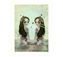 Bumble Bees & Daisy Chains Art Print