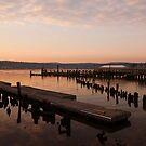 Sunset on the Hudson by Steven  Lippis