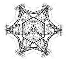 Electro mandala Photographic Print