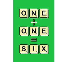 Scrabble Math Photographic Print