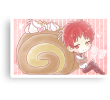 Snake Akashi and Roll Cake Canvas Print