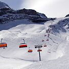 Ski chairs in Swiss Alps by magiceye