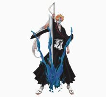 Ichigo Kurosaki with broken Hollow mask by GuyDude1337