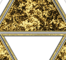 Sierpinski Triangle, Triforce, Zelda, Mathematics, Fractal, Math, Geometry Sticker