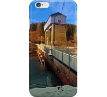 Hydropower station in winter wonderland | architectural photography iPhone Case/Skin