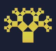 Pythagoras Tree Fractal, Patterns Of Creation, Mathematics, Geometic Kids Clothes